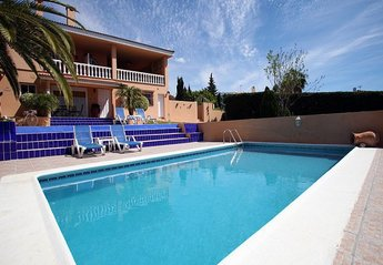 Apartment in Spain, La Gaspara: Pool with villa behind showing our Pool Apt