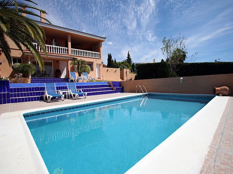 Apartment in Spain, Urb. Don Pedro: Pool with villa behind showing our Pool Apt