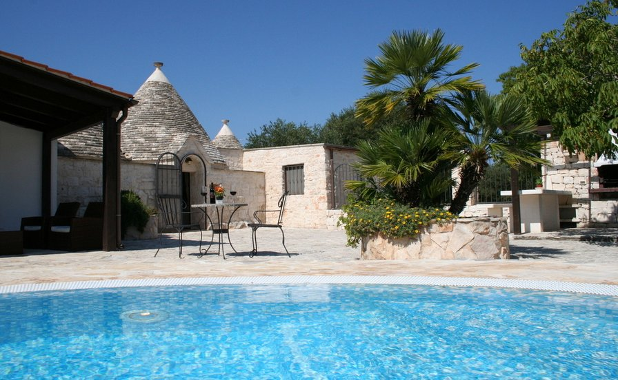 Owners abroad Trullo Olivia with solar heated pool