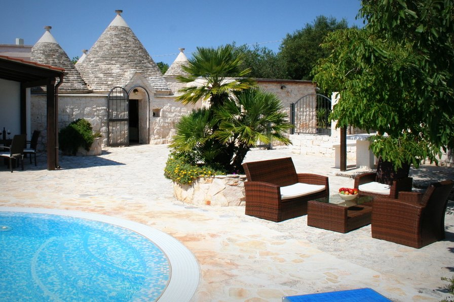 Owners abroad Trullo Olivia with solar heated pool & wifi