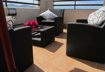 Apartment in Spain, Isla Plana: Relax on your own private solarium