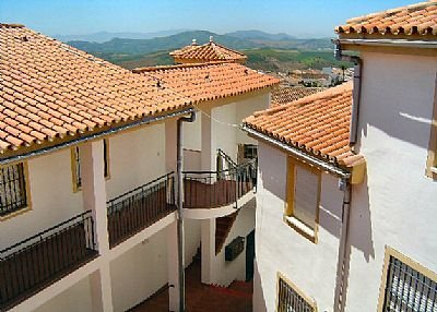 Apartment in Spain, Villanueva de la Concepción: View of rooftops of the village
