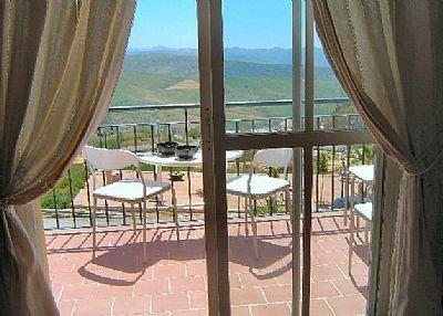 Apartment in Spain, Villanueva de la Concepción: A view towards the main terrace