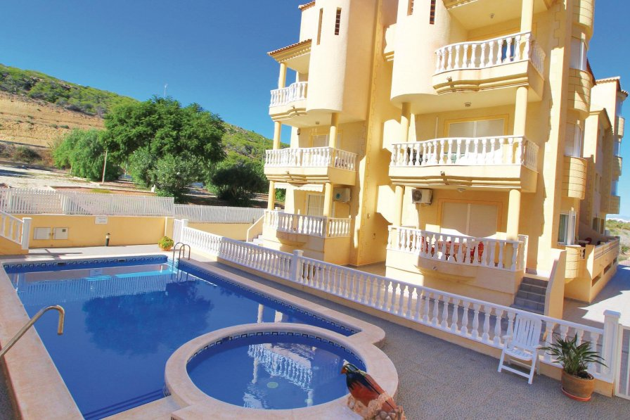 Apartment rental in Los Secanos with shared pool