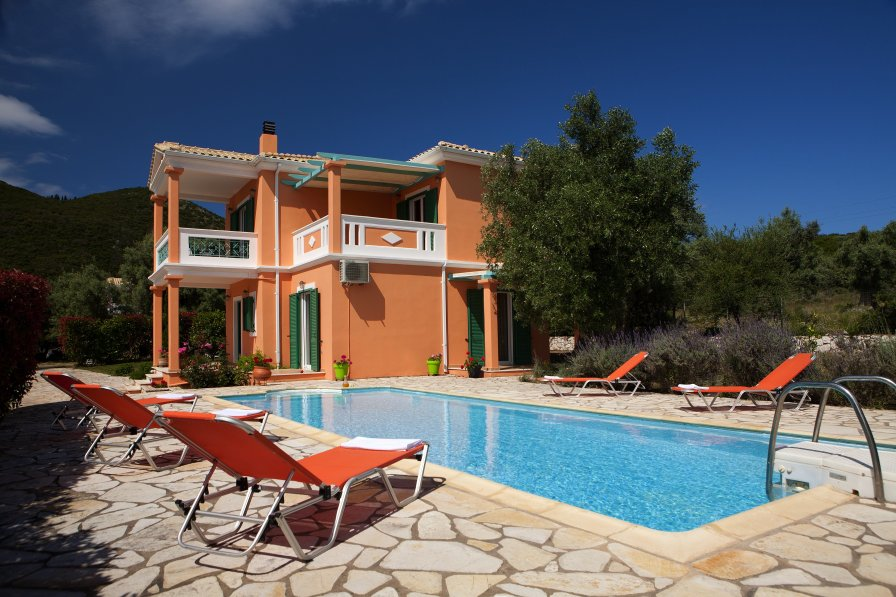 Owners abroad Villa Pantheon, 3 Bedrooms, Private Pool, Sea Views, Lefkas