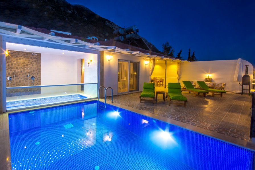 Secluded Honeymoon Villa Sinem with Heated Indoor Pool and Views
