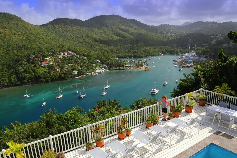 WOW... What a View!!! The Villa On The Bay in Marigot Bay!