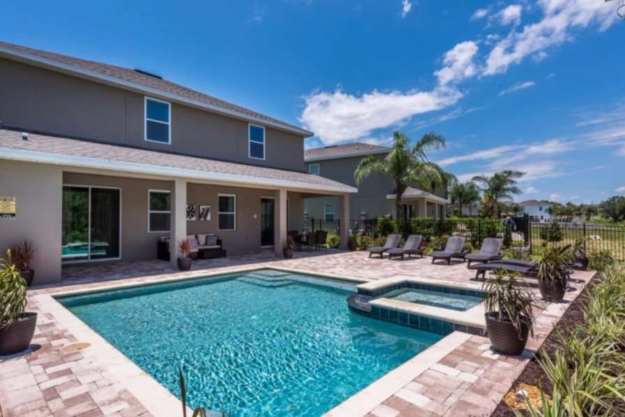 villa to rent in kissimmee florida with shared pool 239219. Black Bedroom Furniture Sets. Home Design Ideas