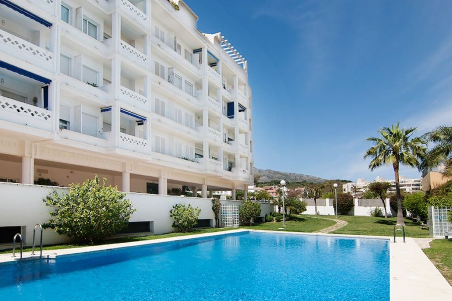 Owners abroad Torremolinos holiday apartment rental with swimming pool