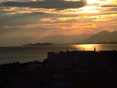 Apartment in Spain, La Azohia: Sunset on the balcony