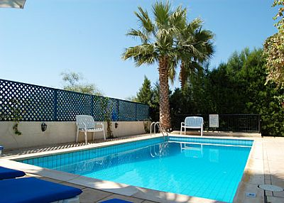 Villa to rent in coral bay cyprus with private pool 2448 for Palm tree villas 1