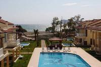 Villa in Turkey, Calis Beach: View to sea through main Pool at Seaside