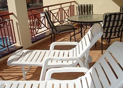 Apartment in Spain, Los Cristianos: The large sunny balcony