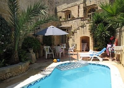 Farm house in Malta, Santa Lucija: Tan-Nanna FH Pool /BBQ area