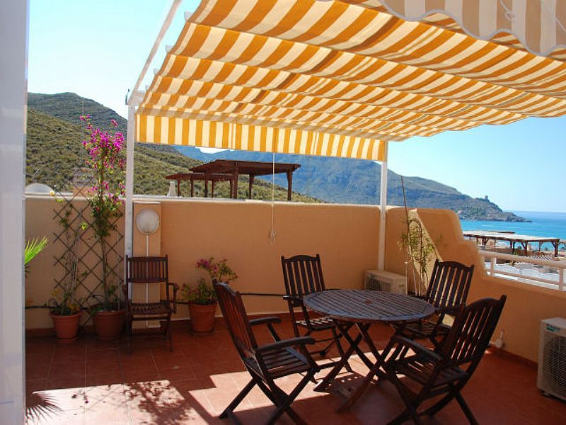 Apartment in Spain, La Azohia: View from private solarium