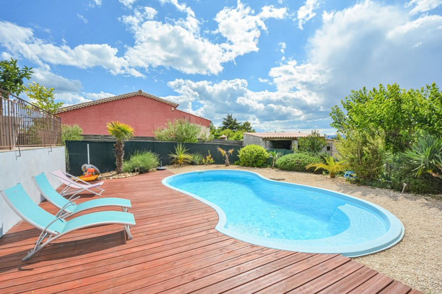 Holiday villa in Barjac with shared pool