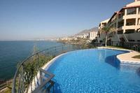 Apartment in Spain, Torrequebrada: Sea and apartment view from pool