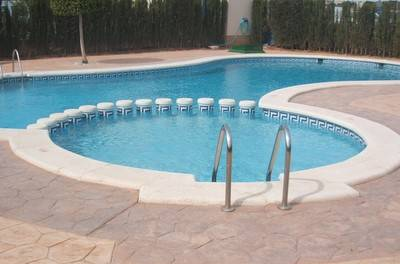 Apartment in Spain, Cabo Roig: Warm inviting private shared pool