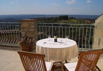Village House in France, Gorges du Verdon: Large terrace with spectacular views