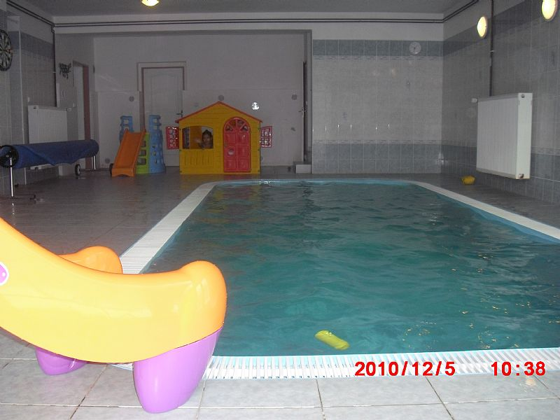 Villa in Czech Republic, Central Bohemian Region: INSIDE HEATED POOL,WATER GAMES AND MASSAGE,SLIDE,