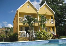 Villa in Fitts Village, Barbados: Over looking the pool with the sea beyond