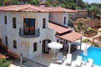 Villa in Turkey, Kas: Seafront Villa Dunya Outside poolside