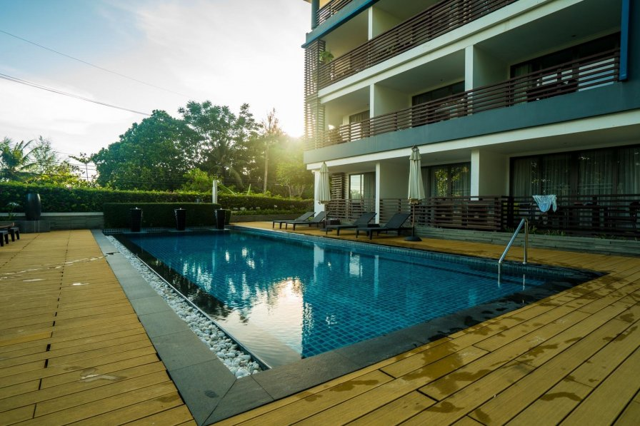 N308 - Walk to the beach apartment in Kamala, pool, gym, parking
