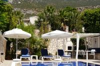 Villa in Turkey, Kalkan: Villa Katmar, Pool and Terrace with view of Taurus Mountains