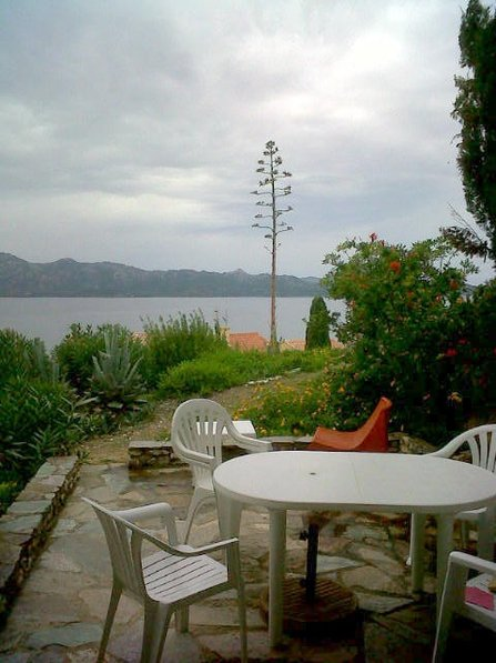 Apartment in France, Patrimonio: The terrace a cloudy day of november
