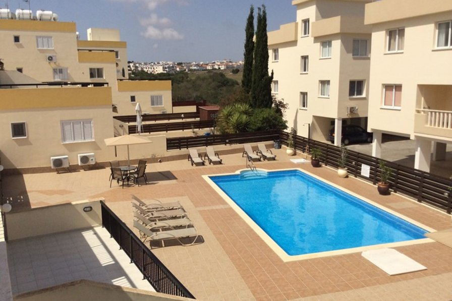Apartment in Cyprus, Kapparis: Pool view from 45sq metre verandah