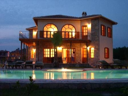 Villa in Turkey, Dalyan: Pamuk Tarlasi at night
