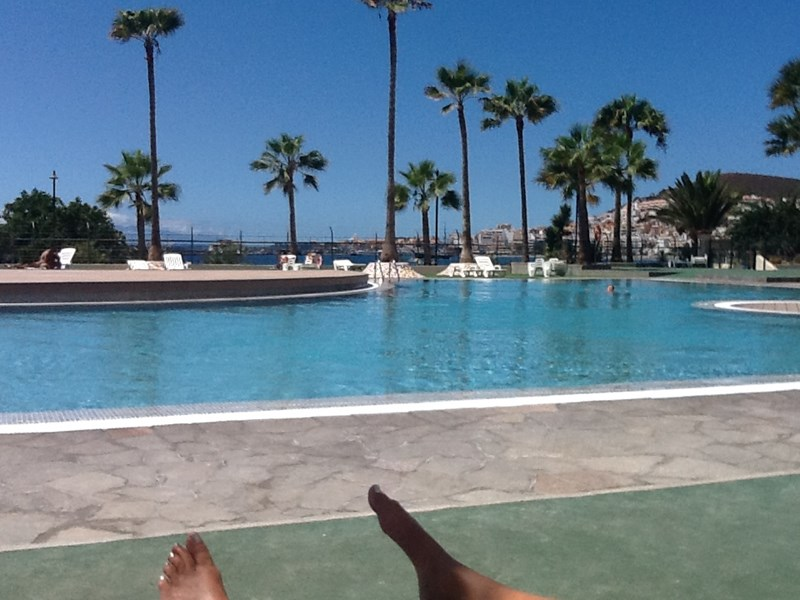 Apartment in Spain, Los Cristianos: view of new swimming pool