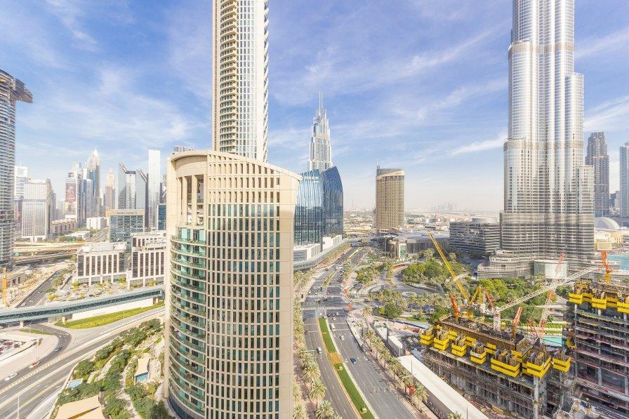 Burj Khalifa View 1BR at Lofts Towers, Downtown # 06