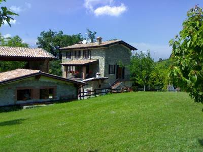 Country house in Italy, Corti: Back garden