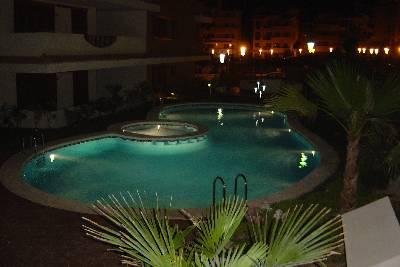Apartment in Spain, LA ENTRADA - Ocean Front Resort: Pool area by night: La Entrada Ocean Front Re..