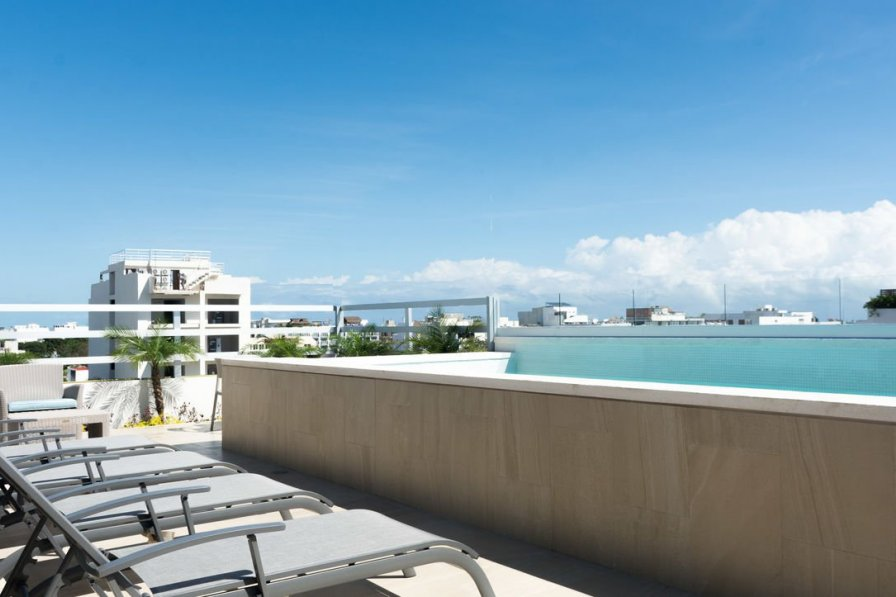 Tropic 201 - bright 1 BR w/King Bed + Roof top pool