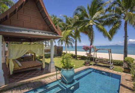 Villa in Maenam, Koh Samui: Villa Bougainvillea, a luxury and private 4 bedroom beach front villa ..