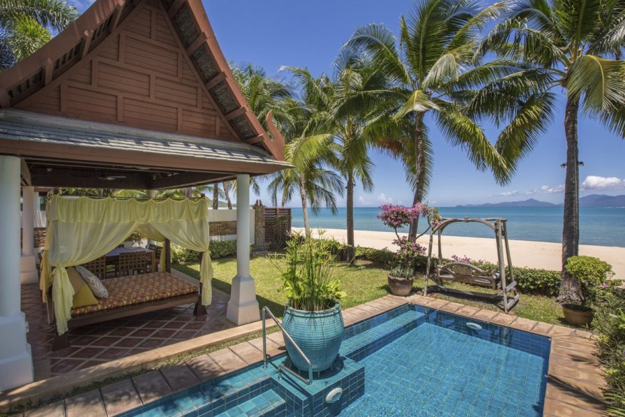 Villa in Thailand, Maenam: Villa Bougainvillea, a luxury and private 4 bedroom beach front villa l..