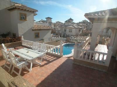 Villa in Spain, La Zenia: The view overlooking YOUR pool