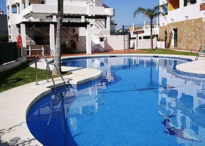 Apartment in Spain, Torrequebrada: Pool and BBQ area