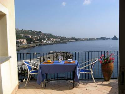 Apartment in Italy, Aci Castello: View from the terrace