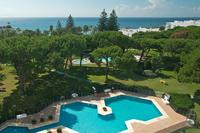 Apartment in Spain, Frontline: Partial aerial view of Club Playas Del Duque gardens and beach in P..