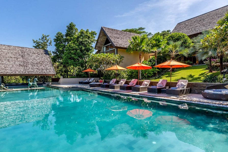Villa in Thailand, Koh Samui: Atulya Residence, a private, luxury 5 bedroom villa with ocean view ..
