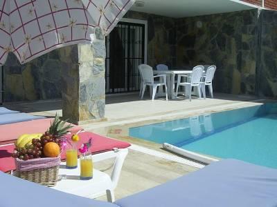 Villa in Turkey, Ladies Beach: Villa Lapis Pool Area
