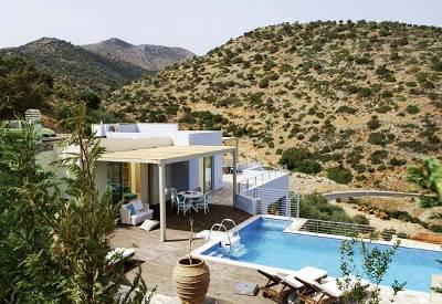 Villa in Greece, Elounda: Pool & view