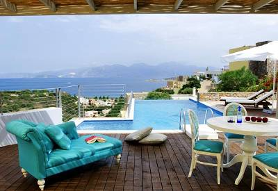 Villa in Greece, Elounda: Pool & View