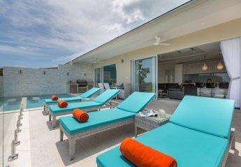 Villa in Thailand, Plai Laem: Pool terrace at Villa Ambience, a luxury 3 bedroom ocean view villa ..