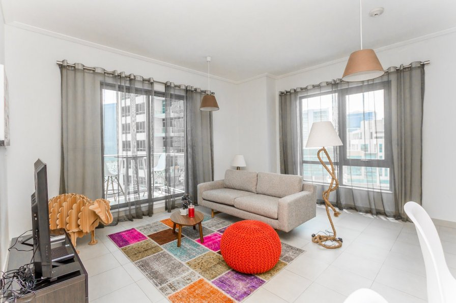 Owners abroad Cozy 1Bed with Partial Burj Khalifa View in South Ridge, Downtown