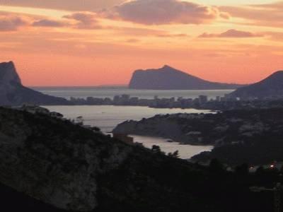 Villa in Spain, Cumbre del Sol: Evening view