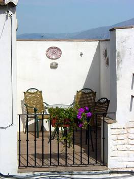 Village house in Spain, Lecrin Valley: Claro del Luna - Terrace